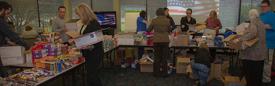 Month of Service 2015, USO Care Package Drive